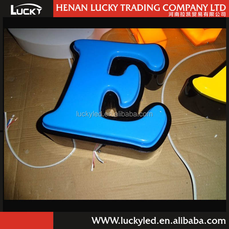 Beautiful 3D Molded AcrylicThermoforming Large Outdoor LED LOGO Sign
