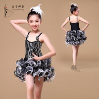 2016 new arrival wholesale latin dance tutu dress tutu skirt kids clothes girl dress