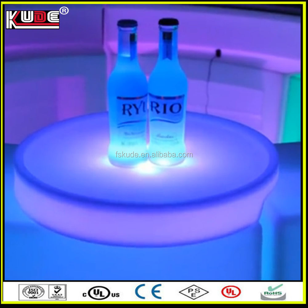 fashional design night club party waterproof LED lighted tray wholesale