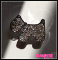 high quality CZ stones rhinestone 10mm slide dog charms for dog collar wholesale