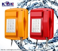 Solutions for offshore oil & gas, KNSP-18 Waterproof Telephone IP66, LCD display, Page/Party, Multi-Site Systems