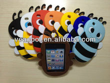 3D cute bees Silicon Case for Apple iPod Touch 4/4th Gen
