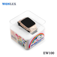Wonlex EW100 GSM+GPS+LBS+wifi location SOS golf watch GPS moblie phone for elderly man and kids