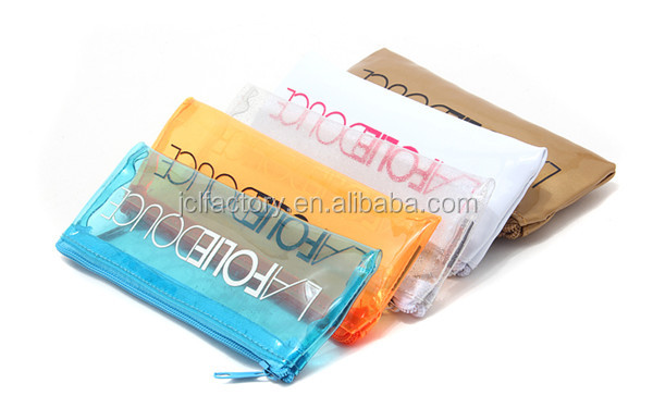 pvc mini clear plastic cosmetic bags