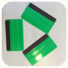 2016 High quality plastic squeegee with Taiwan made black fabric wrap for window, cars, films, in green color