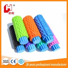 Yoga series gym sport kits eva hollow coloured 2 in 1 hard grid massage balanced body foam roller manufacturer