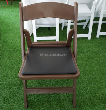 NEW brown resin folding chair wedding