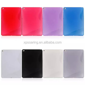 S shape tpu case back cover for ipad air 2, TPU rubber case for ipad 6