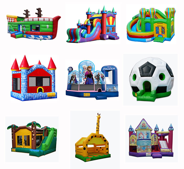 all kinds of bouncer castle