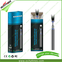 Shenzhen supplier OCITYTIMES O2 metal tube disposable e-cigarette with 0.5ml CBD glass cartridge