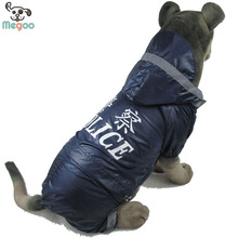 Simple Design Waterproof Police Dog Raincoats For Large Dog