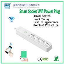 4 gang Smart socket wifi power plug APP wireless remote control intelligent electrical outlet by IOS Andriod phone