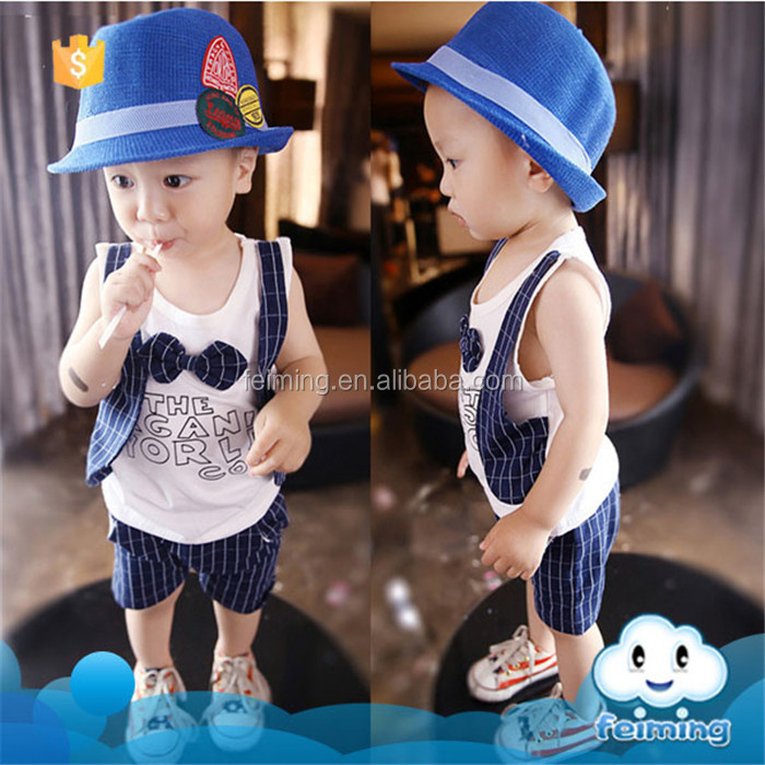 SS-724B Wholesale children summer clothing baby boys set kids garments of online shopping