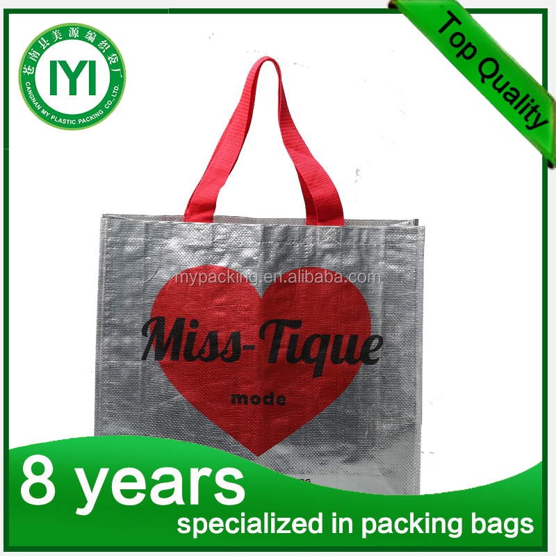 Colored Printed TNT / Non-Woven Polypro Tote Bag/PP Non-Woven Recyclable Sublimation Printing Shopping Bag