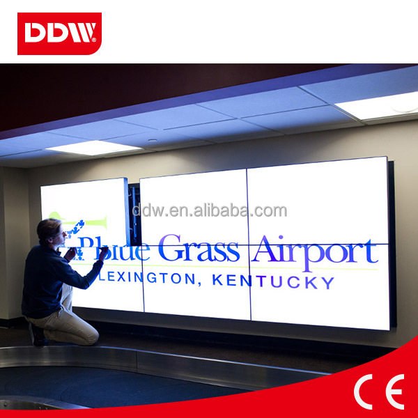 DDW Easy maintenance wall mounted front access hydraulic Push-Pull video wall rack