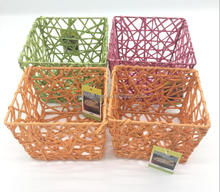 Environmental health delicate woven by hand paper gift rope basket