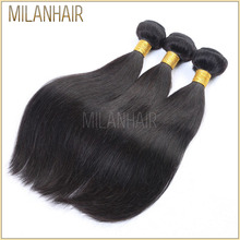 Aliexpress High Quality Relaxed Straight Hair Burmese Hair Weaving/Brazilian Silky Straight Remy Human Hair Weft