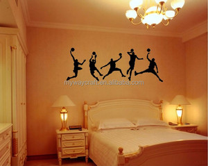 Play Basketball Sport Living Room Kid Bedroom Decor Mural Wall Decal Sticker