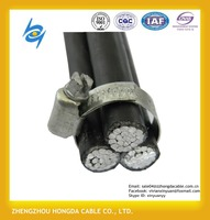 XLPE or PE insulated 600 volt secondary distribution 6sq mm aluminum cable single core overhead abc power cable