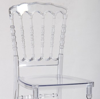 Polycarbonate Transparent Clear crystal Resin Napoleon Chair