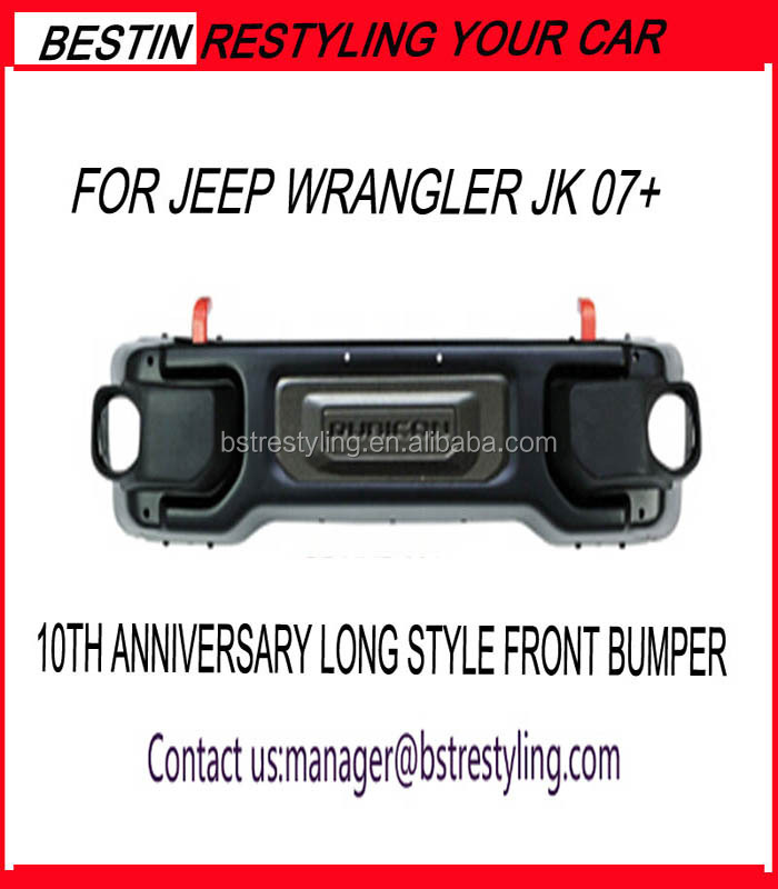 10TH ANNIVERSARY LONG STYLE FRONT BUMPER FOR JEEP WRANGLER JK
