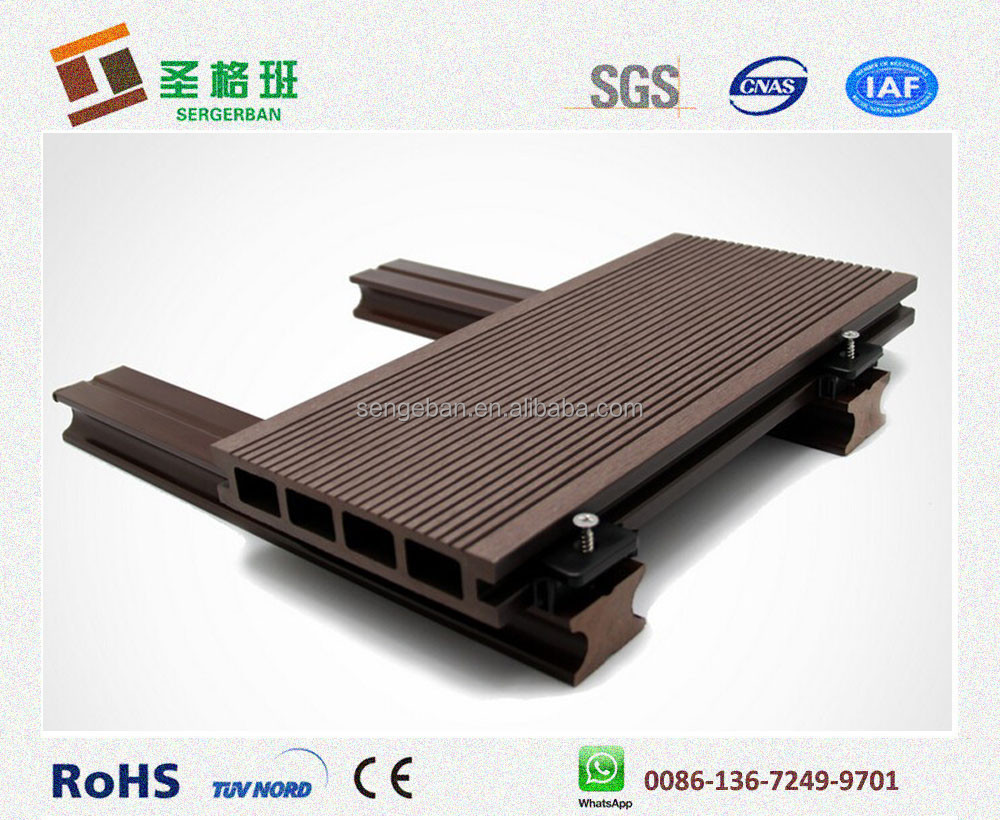 Anti-UV and waterproof SENBAO Wood Plastic Composite Floorings Outdoor WPC Decking/high quality wpc board/factory price