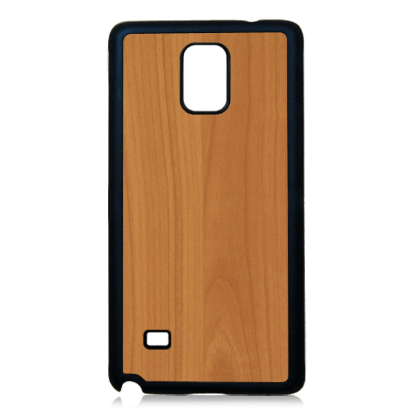 PC wood sticker phone case,wooden phone coverl for samsung note 4