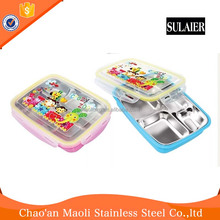 New Cartoon Design Stainless Steel Korean Bento Lunch Box for Kids