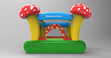 Bouncer Inflatable Jump 'n Slide Bounce House Small Kids Compact Blower Incl