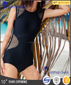 Hot sale! Black mesh backless one piece swimwear.