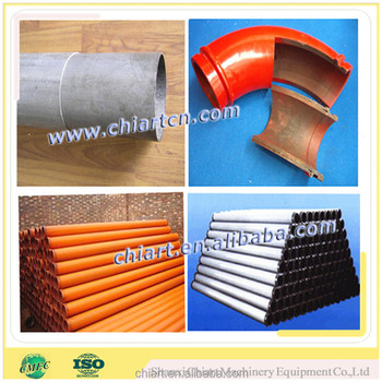 Heat treated concrete pump double twin wall pipe