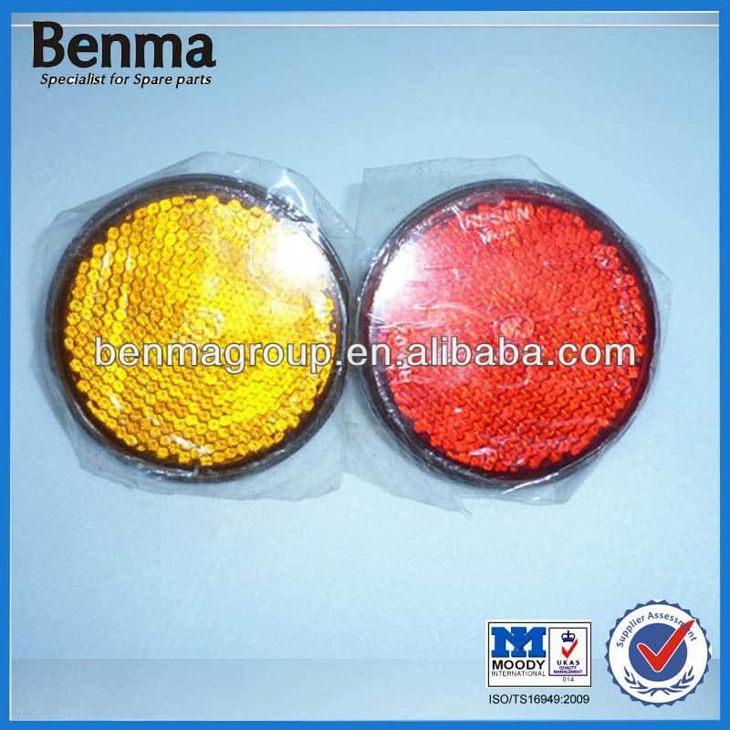 Motorcycle Round Plastic Light Reflctor ,Red Reflector,Orange Reflector