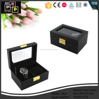 Hot Promotional Black PU Leather Unique shell shape watch gift packaging box