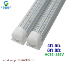 8ft LED Tube Light V-shaped Integrate 2.4M 72W LED Tube T8 integrated Cooler Door LED Tube 8 FT 2400MM