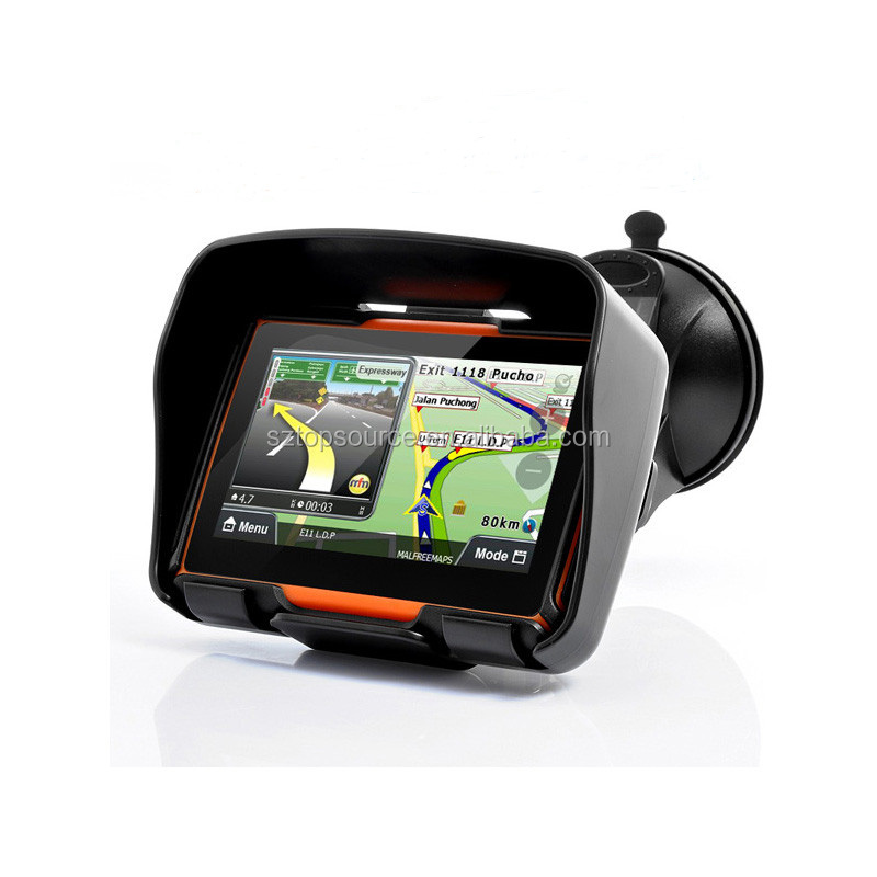 4.3inch the best motorcycle gps/ motorcycle gps tracking solution