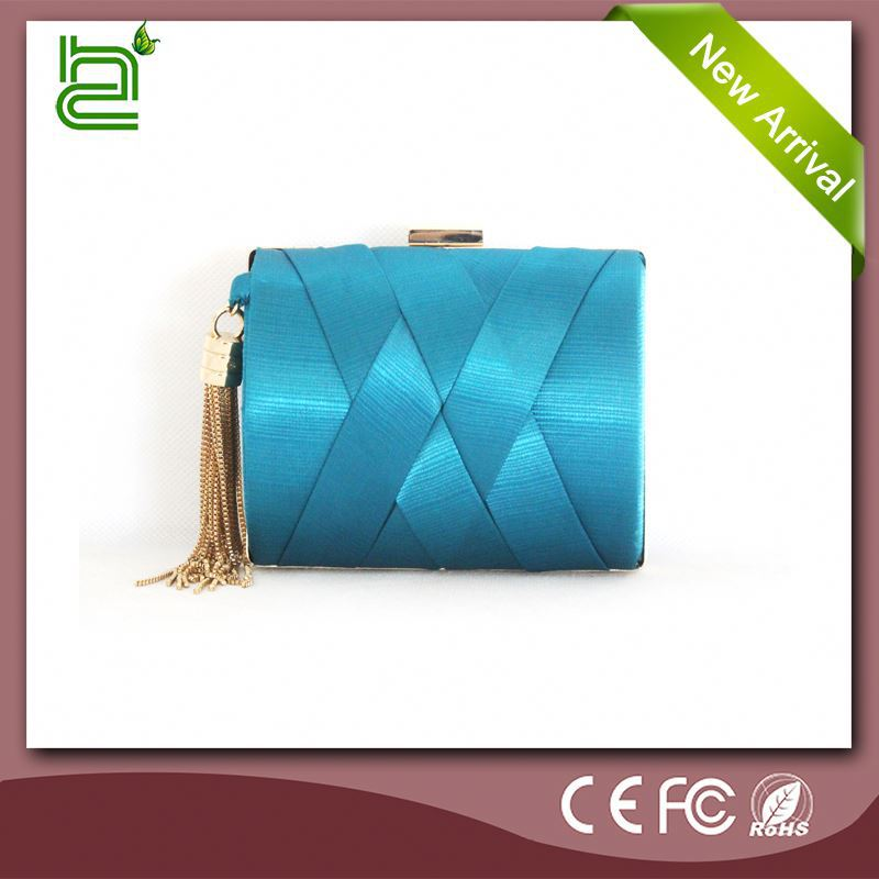 Exclusive dress high-grade blue silk for bag fashion purses cheap