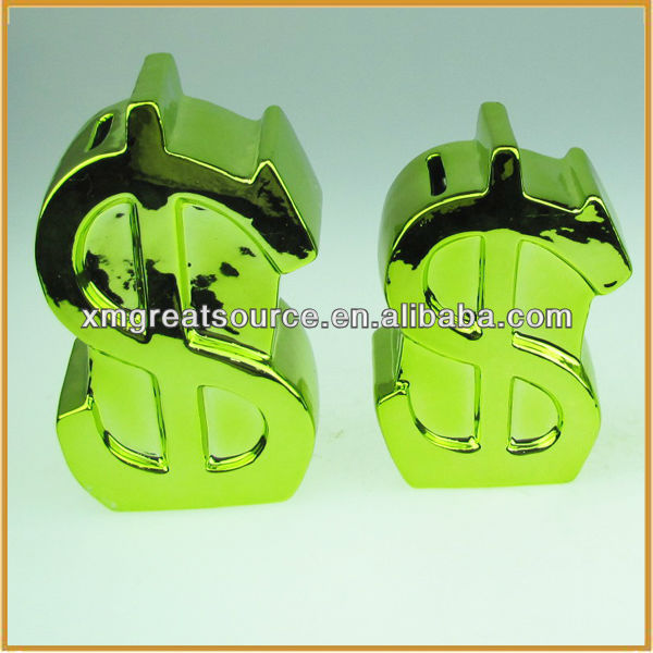 hotsale new design ceramic coin bank money box