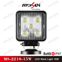 12V&24V DC 15W LED work light for truck, LED work lamp for vehicle,SUV,ATV,bus