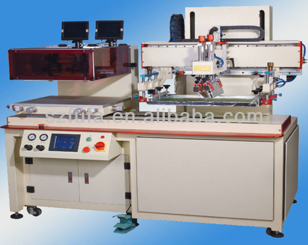Full auto silk screen printing machine for plate glass