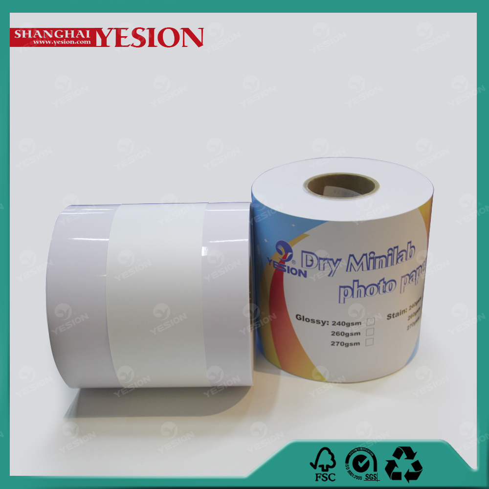 "Yesion 2015 Hot Sales ! Professional Manufacturer 6""/8""/10""x60m Dry Minilab High Glossy Photo Paper For EpsonD700/D3000"