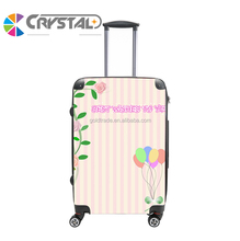2017 Customized Design hot sale colorful pc material lightweight toto travel luggage for teenagers