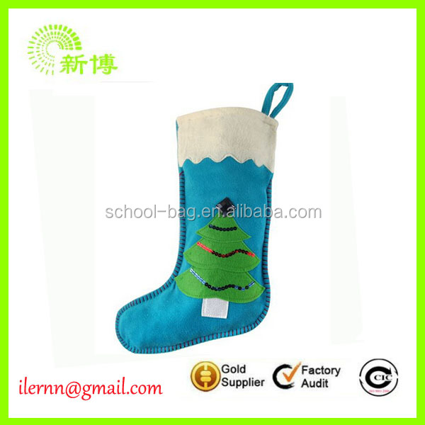 promotional polyester cute christmas socks