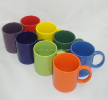Solid color coffee mugs,color glazed mug, 11oz ceramic gift cup for promtional used, gift mug with logo pronting