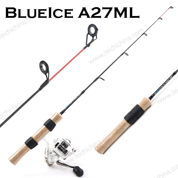 27'' long Medium Light IM7 Carbon ice fishing rod
