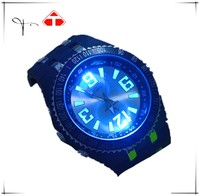 high quality silicone band brand V6 japan movement led light up watches