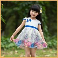 Fashion girl dress 2015 new products 3 year old girl dress