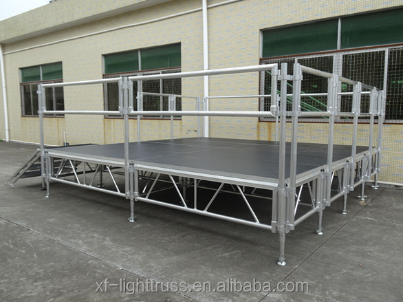 Easy Install and Dismount Aluminum Waterproof Anti-slip Portable Concert Stage