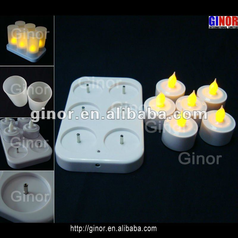 led candle set with 6 tea lights