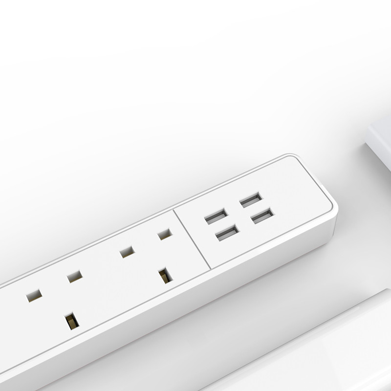 ORICO OSC-4A4U sockets with 4 USB ports,UK plug 4 outlet power strip