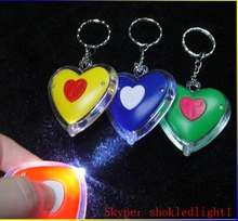 LED Promotion gift reflective keychain keychain light floating keychain